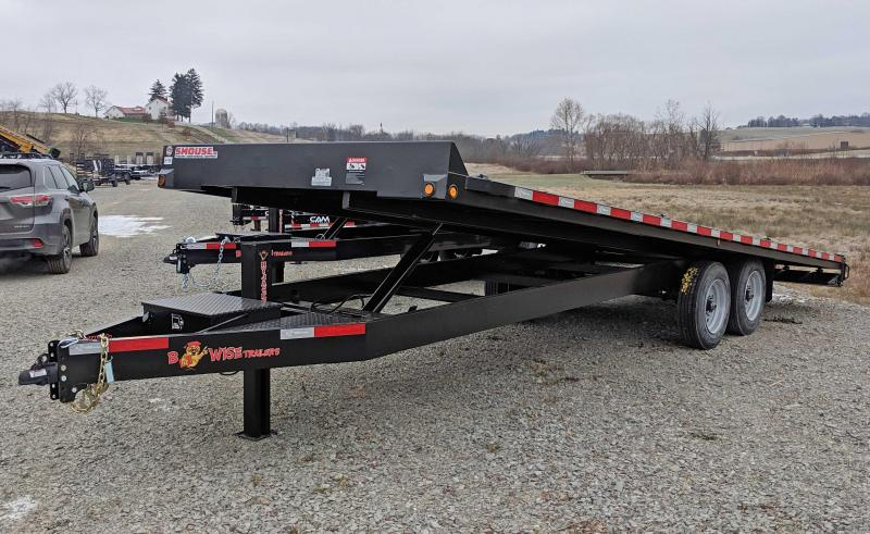 NEW 2019 B-Wise 24' HD Deckover Power Tilt Equipment Trailer