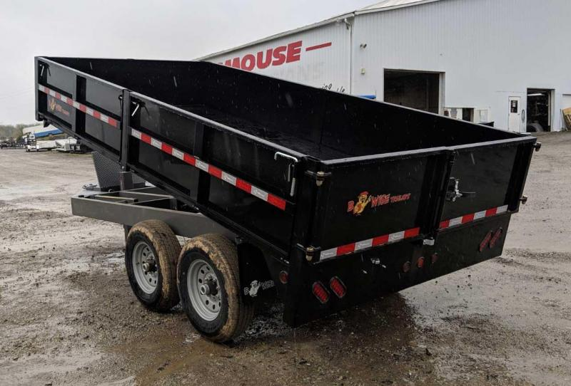 NEW 2019 BWise 7x14 Deckover Dump Trailer w/ Drop Sides