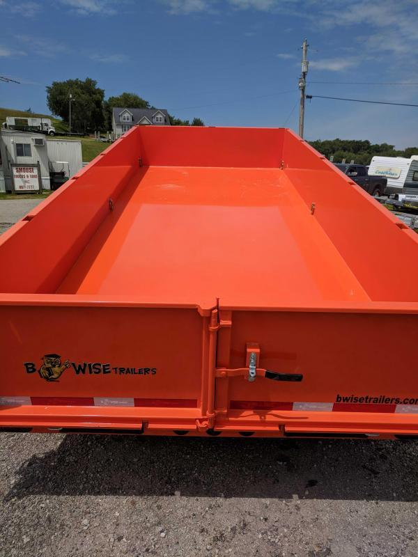 "NEW 2019 B-Wise 6'10"" x 16' HD Lo Pro Power Equipment Dump Trailer"