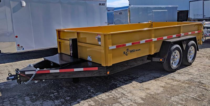 "NEW 2018 B-Wise 6'10"" x 14' HD Lo Pro Equipment Dump"