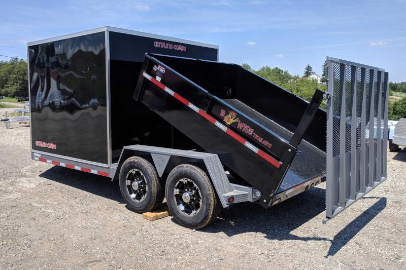 "NEW 2018 B-Wise 7x19 ""ULTIMATE"" Combo Dump/Cargo Trailer"