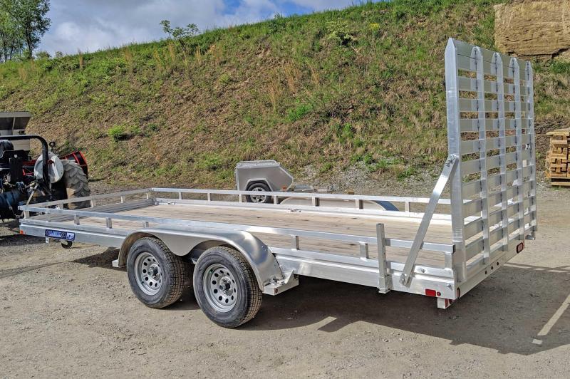 "NEW 2019 Aluma 6'6"" X 18 EDGE Series Tandem Utility Trailer w/ Wood Deck"