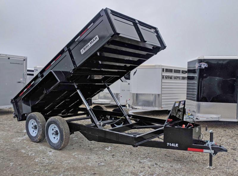 "NEW 2019 Bri-Mar 6'9"" x 14 HD Lo Pro Equipment Dump w/ Underbody Ramps"