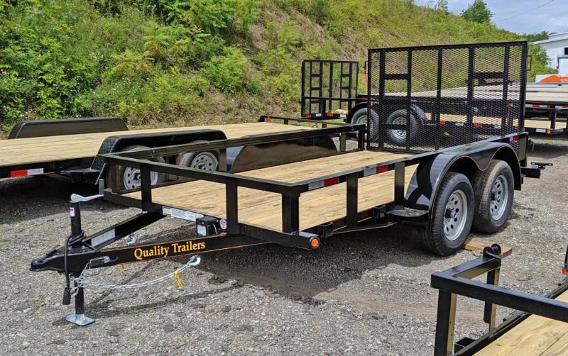 NEW 2020 Quality 6x12 General Duty Tandem Utility Trailer (No Dove)