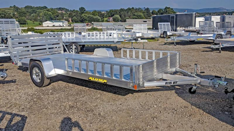 "NEW 2019 Aluma 6'9"" x 15 Utility Trailer w/ Side Ramps & Bifold Gate"