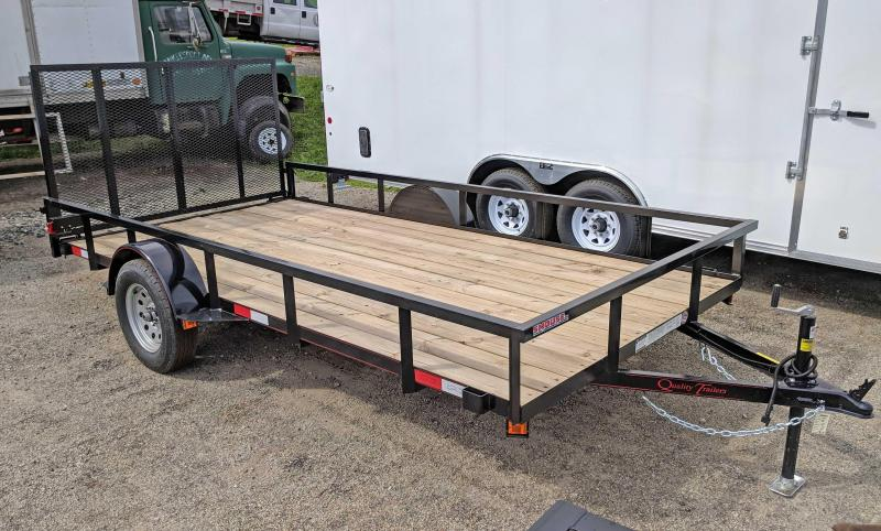 NEW 2019 Quality 7X14 PRO Utility Trailer w/ Spring Assist Lay Flat Gate