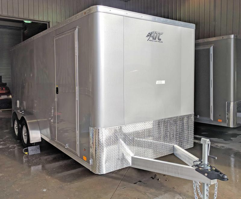 "NEW 2019 ATC 7X16 Raven Aluminum Cargo Trailer w/Ramp Door & 12"" Additional Height"