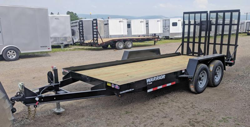 NEW 2019 CAM 16' WARRIOR Equipment Trailer w/ Landscape Ramps in Ashburn, VA