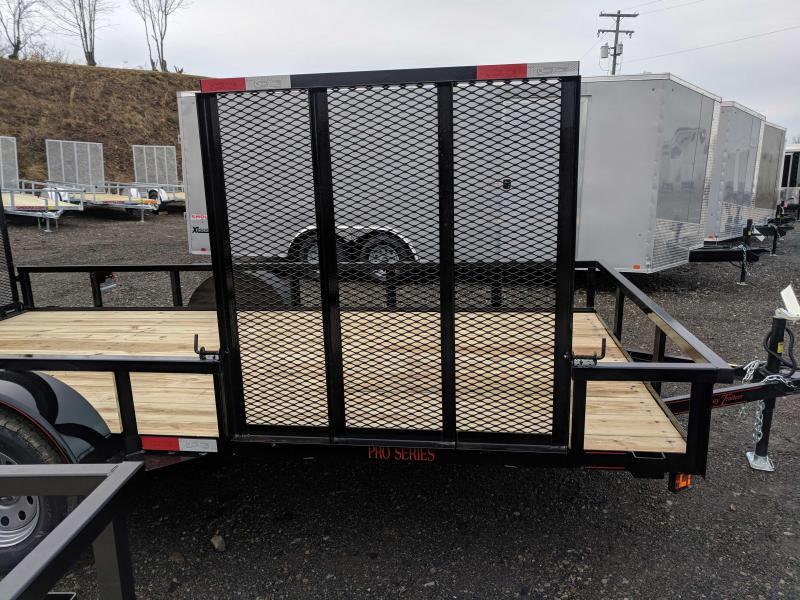 NEW 2018 Quality 7X14 PRO Utility Trailer w/ Side Gate & Spring Assist Rear Gate