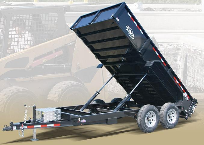 "NEW 2019 CAM ""Advantage"" 6'8"" x 14 HD Lo Pro Equipment Dump Trailer (14K)"