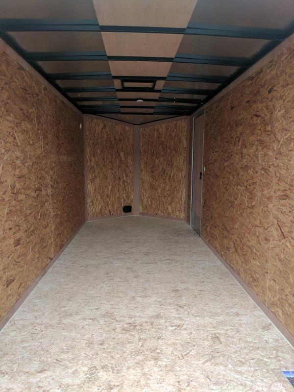 """NEW 2020 Cargo Express 7x14 EX DLX Sloped V-Nose Cargo Trailer w/ Ramp (84"""" Inside Height)"""
