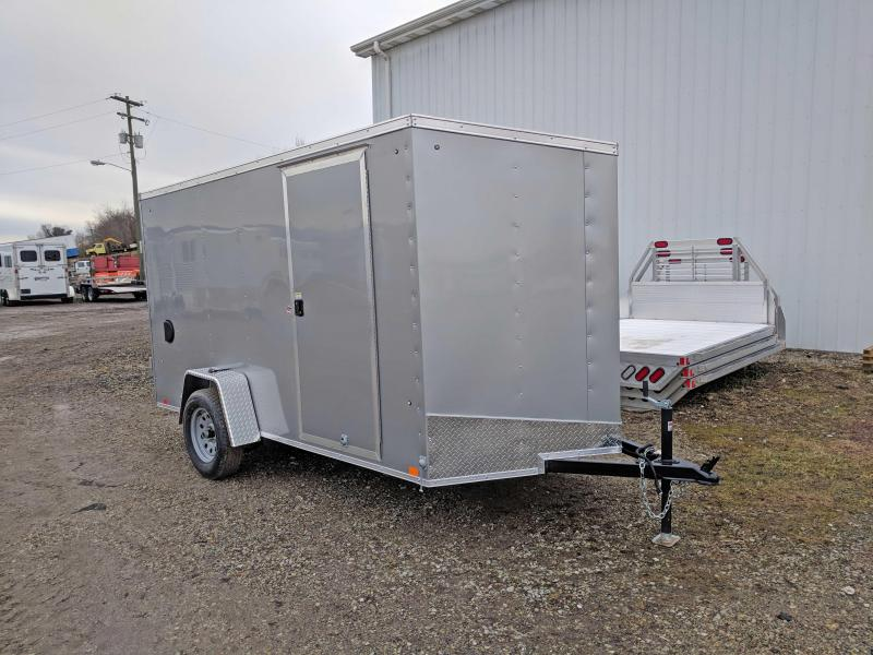 NEW 2019 Cargo Express 6x12 EX DLX Sloped V-Nose w/ Barn Doors
