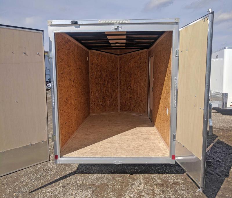 NEW 2019 Cargo Express 6x12 EX DLX Sloped V-Nose w/ Barn Doors