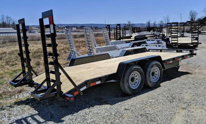 NEW 2019 Quality 18' General Duty Equipment Trailer w/ Stand Up Ramps