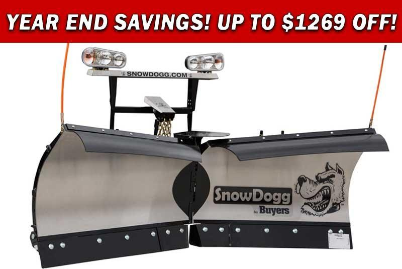 (2 LEFT @ PRE-SEASON PRICING!) CALL FOR SPECIAL PRICING!!! NEW SnowDogg 7.5' Medium Duty Stainless Steel V-Plow