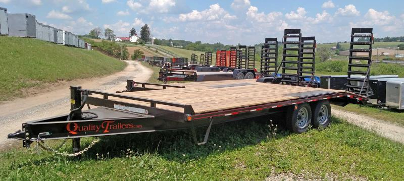 NEW 2019 Quality Trailers 16+4 General Duty Deckover Tagalong Trailer w/Stand Up Ramps