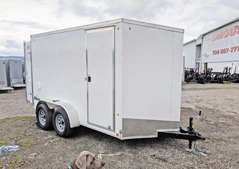 NEW 2020 Cargo Express 6x12 HD EX DLX Sloped V-Nose Cargo Trailer w/ Barn Doors