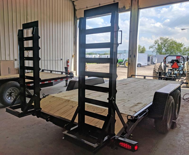 NEW 2018 Quality 18' HD PRO Equipment Trailer w/ Spring Assist Stand Up Ramps