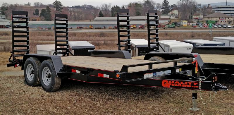NEW 2019 Quality 16' General Duty Equipment Trailer w/ Stand Up Ramps