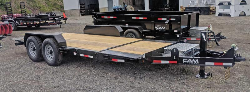 NEW 2019 CAM 19' (4+15) XW Lo Pro Split Tilt Equipment Trailer in Ashburn, VA