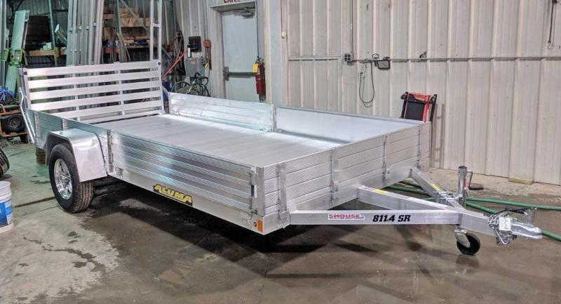 "NEW 2020 Aluma 6'9"" x 14' SR Utility Trailer w/ Side Ramps - Solid Rear & Bi-Fold Gate"
