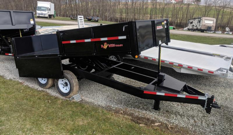 NEW 2018 B-Wise 7X14 HD Deckover Dump Trailer
