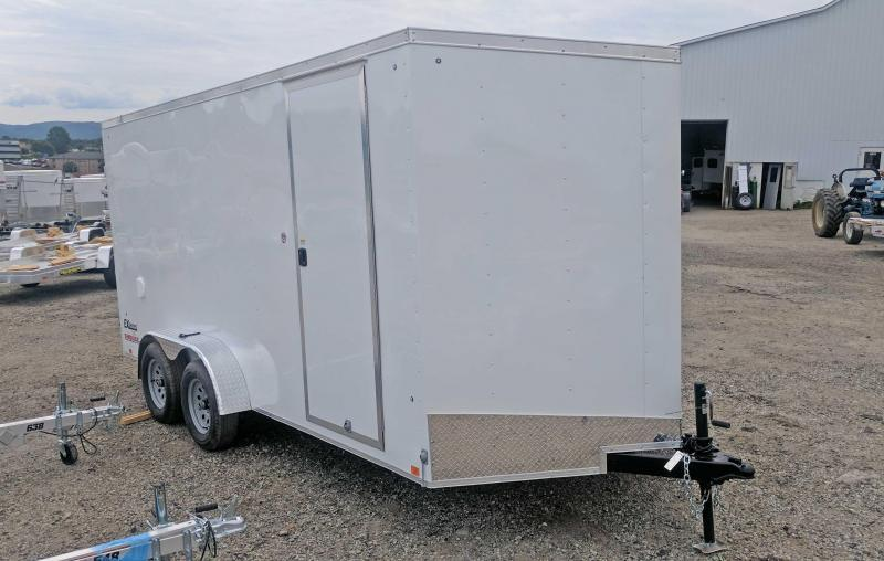 NEW 2019 Cargo Express 7X16 EX DLX V-Nose Cargo Trailer w/ Ramp Door