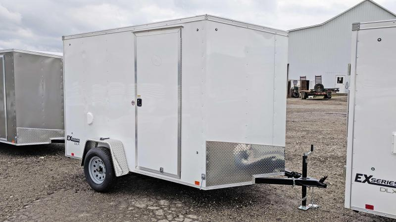 "NEW 2019 Cargo Express 6x10 EX DLX Sloped V-Nose w/ Barn Doors & 6"" Additional Height"
