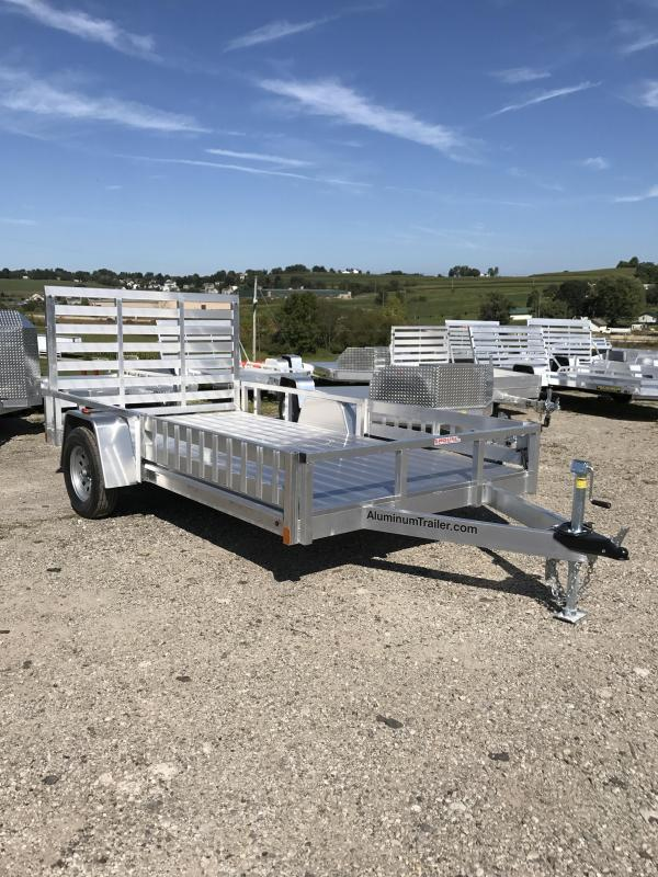 NEW 2018 ATC 7X12 Aluminum Utility Trailer w/ Side Ramps & Rear Gate