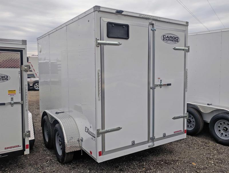 """NEW 2019 Cargo Express 6X12 HD EX DLX Sloped V-Nose w/ Barn Doors & 6"""" Additional Height"""