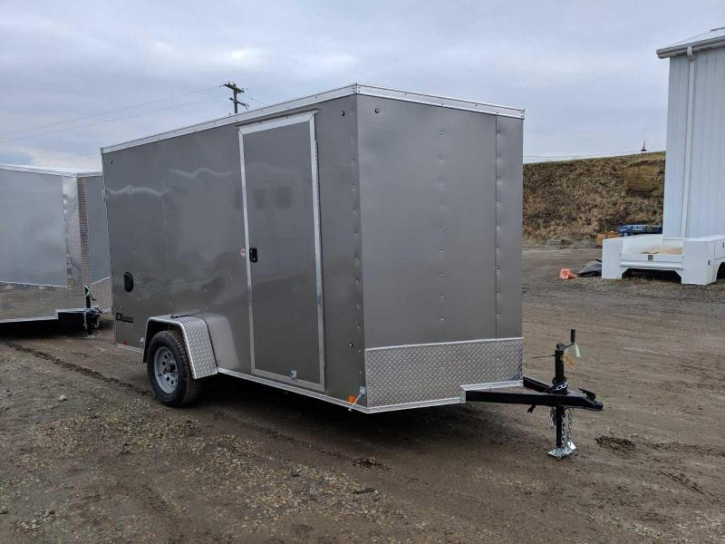 "NEW 2020 Cargo Express 6x12 EX DLX Sloped V-Nose Enclosed Cargo Trailer w/ Barn Doors (6"" Add'l Hgt)"