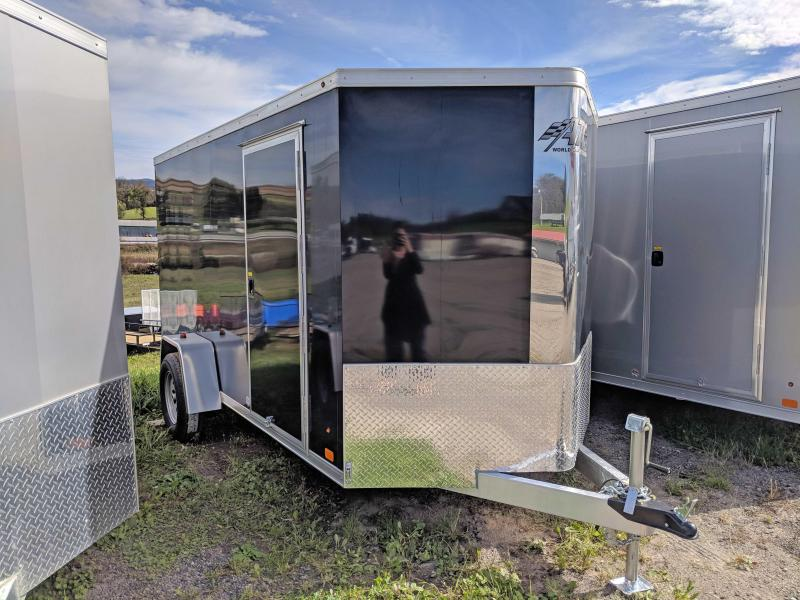 "NEW 2019 ATC 6X12 ""RAVEN"" V-Nose Aluminum Cargo Trailer w/ Ramp Door"