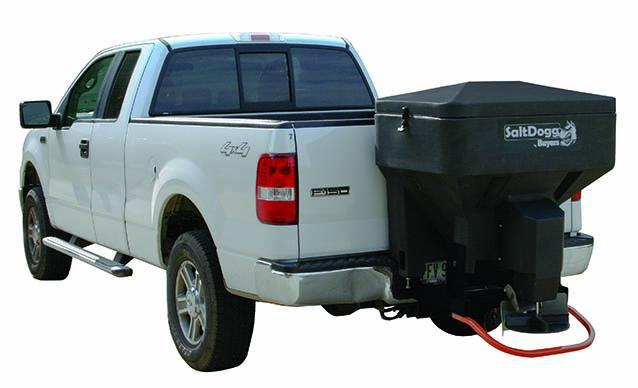 NEW Saltdogg 8 Cu Ft Tailgate Spreader w/ Auger-Hitch Mounted (Bulk Salt & Bag Salt)