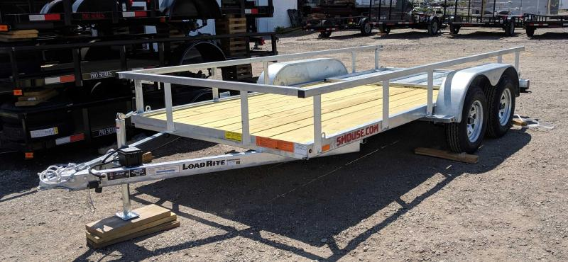 "NEW 2018 Load Rite 6x14 HD Tandem ""Galvanized"" Utility Trailer w/ Spring Assist Gate"