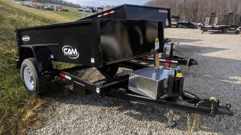 "NEW 2019 Cam 5x8 "" Advantage"" Lo Pro Dump Trailer"
