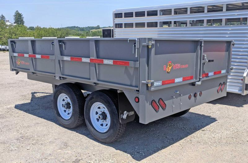 NEW 2018 B-Wise 7X12 HD Deckover Dump Trailer