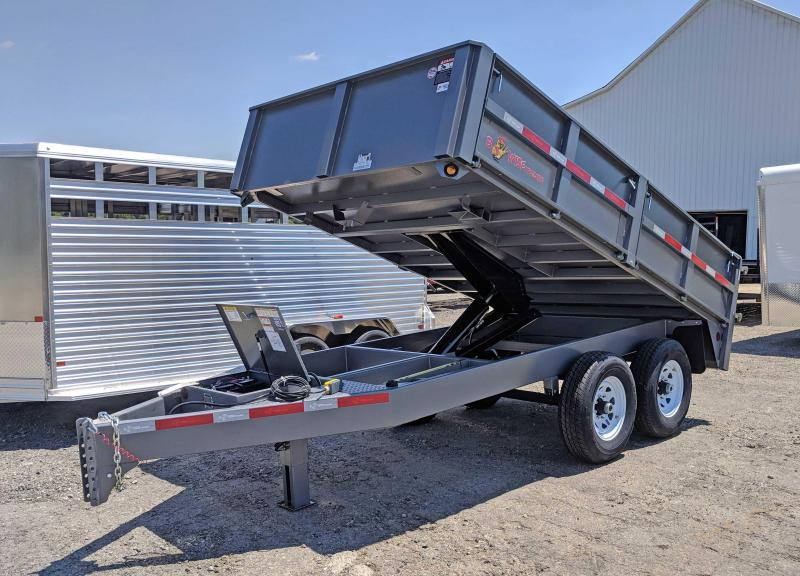 NEW 2018 B-Wise 7X12 HD Deckover Dump Trailer in Ashburn, VA