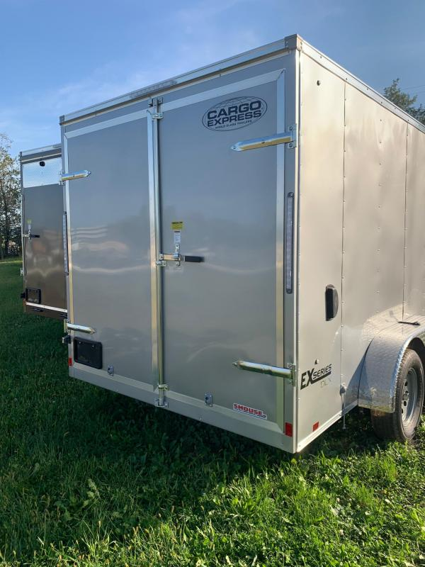 NEW 2020 Cargo Express 7x14 EX DLX Sloped V-Nose Cargo Trailer w/ Barn Doors