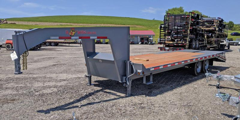 NEW 2018 B-Wise 19+5 HD Deckover GOOSENECK Equipment Trailer w/ Wedge Ramps