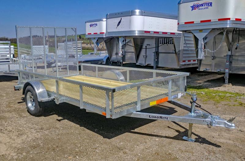 NEW 2019 Load Rite 6X12 Utility Trailer w/ Spring Assist Gate & Mesh Sides