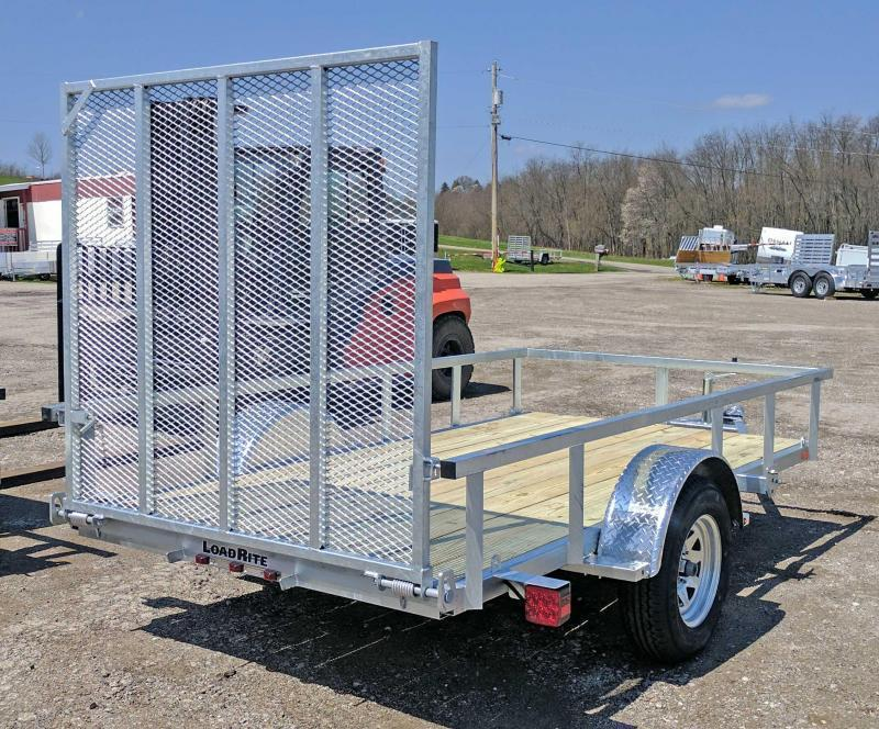 NEW 2019 Load Rite 5.5X11 Galvanized Utility Trailer w/Spring Assist Gate
