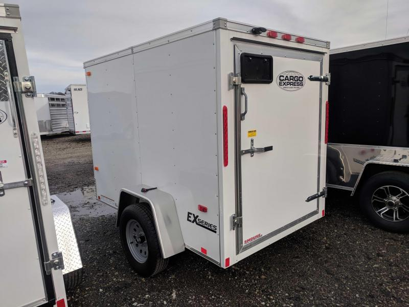 NEW 2019 Cargo Express 5x8 EX Enclosed Cargo Trailer w/ Barn Door