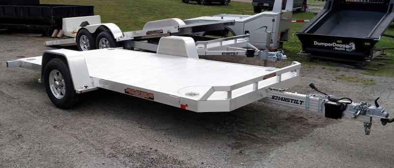 "NEW 2019 Aluma 6'10"" X 14' Heavy Aluminum Utility Trailer w/ Single Axle Tilt"