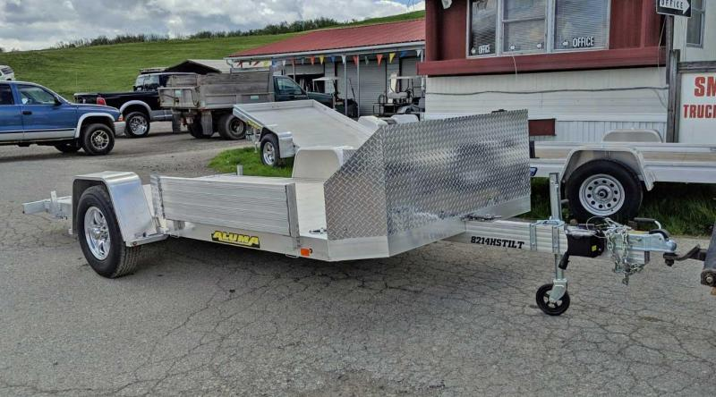 "NEW 2019 Aluma 6'10"" X 14' Heavy Aluminum Utility Trailer w/ Single Axle Tilt w/ Slingshot Package!"