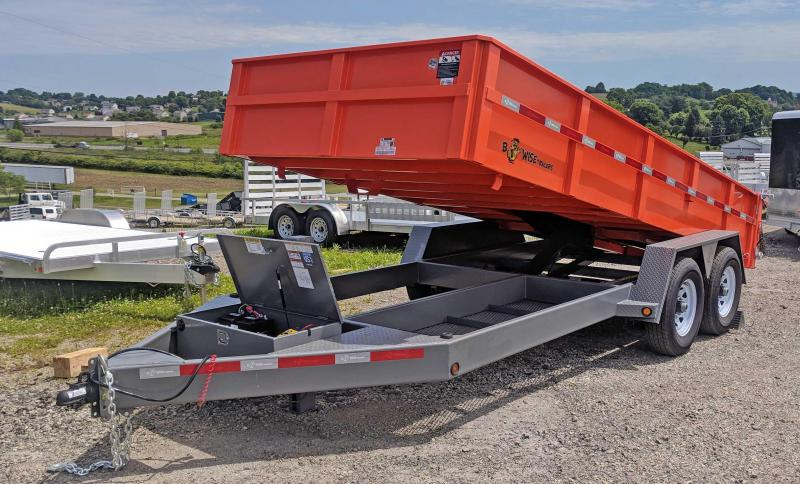 "NEW 2019 BWise 6'10"" x 16' HD Lo Pro Equipment Dump w/ Ramps in Ashburn, VA"