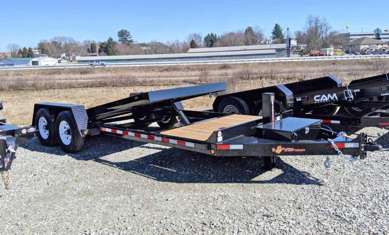 NEW 2019 B-Wise 22' (4+18) Lo Pro Power Split Tilt Trailer in Ashburn, VA