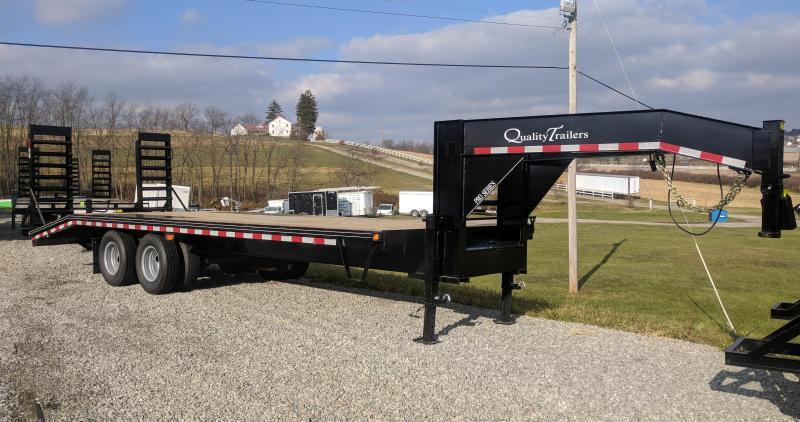 NEW 2019 Quality 20+5 HD PRO Gooseneck Deckover w/Stand up Ramps