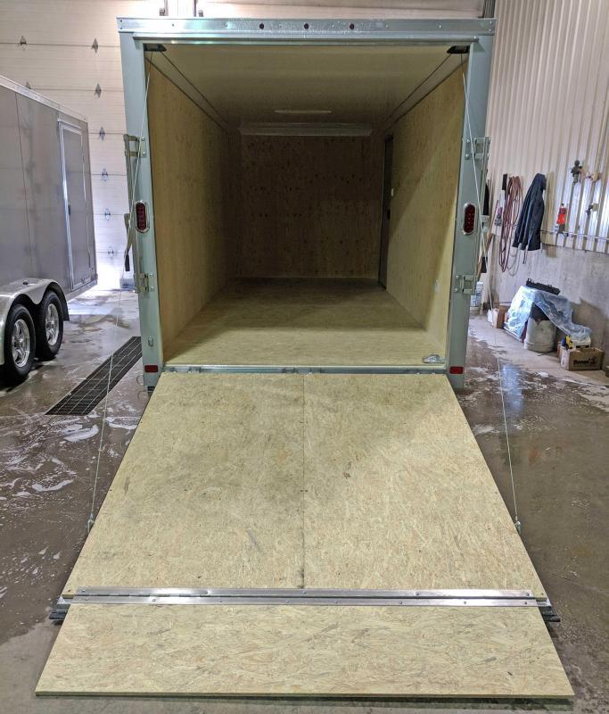 "NEW 2018 ATC 7X16 Raven Aluminum Cargo Trailer w/Ramp Door & 6"" Additional Height"