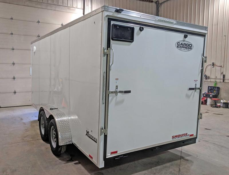 "NEW 2019 Cargo Express 7X16 XLW SE Sloped V-Nose Cargo w/Ramp Door & 12"" Additional Height"