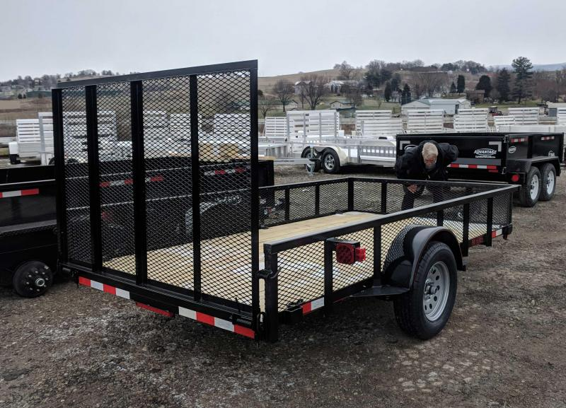 NEW 2018 Quality 6X12 PRO Utility Trailer w/ Mesh Sides & Spring Assist/Lay Flat Gate